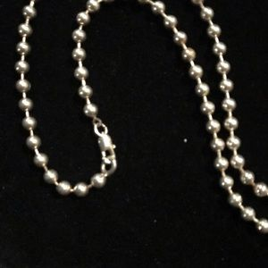 Sterling Silver Medium Ball Chain Necklace